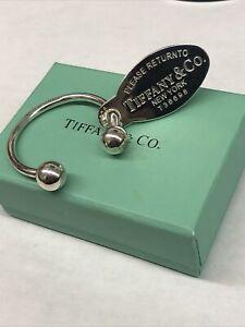 Tiffany & Co 925 key chain horseshoe  Oval Tag Return to Tiffany's