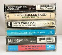 Lot of 6 Steve Miller Band Cassette Tapes