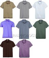 $350 Ralph Lauren Purple Label Pony Logo Custom Slim Fit Pique Polo Shirt NWT