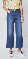 New Womens Blue Crop Ankle Wide Leg NEXT Jeans Size 20 18 16 14 12 10 8 RRP £28
