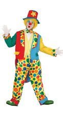 Adult Mens Circus Clown Costume Cosplay Halloween Fancy Dress Outfit