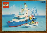 Lego 6353 Coastal Cutter Vintage Instructions Rare