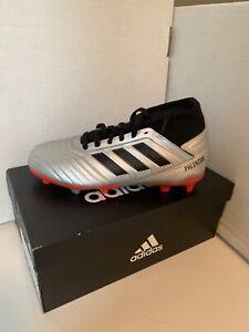 Adidas Predator 19.3 FG Boys Soccer Cleats Silver G25795