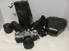 Vintage Canon Camera AE-1 Silver 50 mm F1.8 & Jagar Lenses 28mm & 70-210mm LQQK!