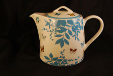 Retired Ashdene Teapot Chris Chun Daintree Butterfly Botanical Blue Asian Rare