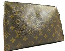 Louis Vuitton Monogram Poche Toilette 26 Clutch Hand Bag Wallet Purse Pouch