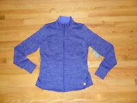 New Womens Tek Gear Athletic Running DryTek Jacket Full Zip Blue M Medium NWT