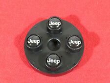 JEEP Black Valve Stem Caps Set Of 4 NEW OEM MOPAR