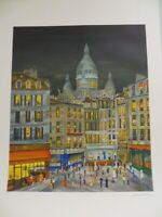 Paris Lithograph by Artist Dan Gandre, Signed and Numbered, Limited Edition