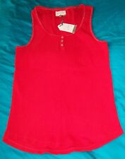 NEXT Escape Reality Ribbed Vest Bright Red Cotton PJ Sleep Top Size 14