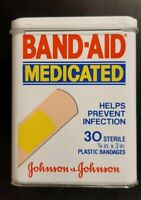 Band Aid Tin, Johnson & Johnson Medicated, Rare Mint Condition Collectible