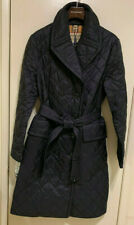 New Burberry Women Horberie Diamond Quilted Trench Coat Black Sz Large NWT! $990