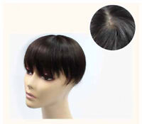 Unisex 100% Remy Human Straight Hair Silk Top Topper Piece Hairpiece Wig Toupee