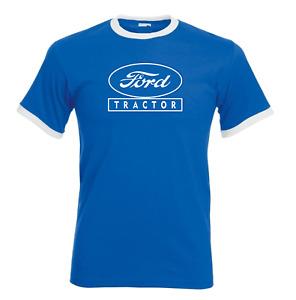 Ford Tractor Fordson Major Super Dexta T Shirt Ringer Classic Vintage All Sizes