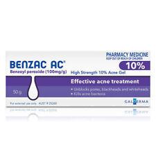BENZAC AC HIGH STRENGTH 10% ACNE GEL 50G UNBLOCKS PORES BLACKHEADS WHITEHEADS