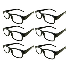 Mr.Reading Glasses [+1.50] 6 Plastic Black Frame Wholesale Men Women Reader 1.50