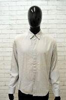 Camicia CALVIN KLEIN Uomo Taglia Size XL Maglia Shirt Man Manica Lunga a Righe