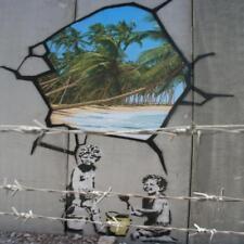 Posavasos De Vidrio Banksy Estilo Moderno Street Art Hecha en Reino Unido Art 2 glassuk Regalo 2151