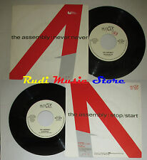 """LP 45 7"""" THE ASSEMBLY Never stop start uno 1983 italy MUTE RECORDS MUT 10519 cd"""