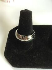 Stainless Steel Spinner Ring with Etched Design. Size 8 to 8.5 Free Ship In USA!