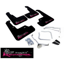 Rally Armor UR Black Mud Flap w/ Pink BCA Logo For 15+ WRX / STi (Sedan)