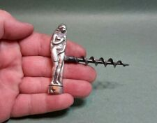 RARE ANTIQUE VICTORIAN SOLID SILVER EROTIC NAKED LADY CORKSCREW LONDON 1843
