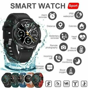 DT NO.1 DT78 Round Screen Heart Rate Sleep Monitoring Smart Watch Wristband