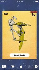Topps Star Wars Digital Card Trader Gold Classic Art Battle Series 2 Insert
