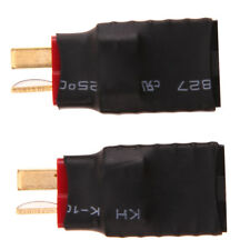 2pcs Wireless Female for Traxxas to T-Plug Deans Style Connector Adapter A#S