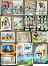 More details for vintage moulinsart tintin poster collection official herge individual purchase