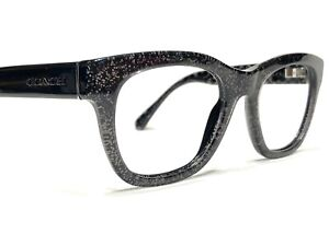 Coach HC6115 5505 Women's Black Chunky Glitter Rx Eyeglasses Frames 51/20~135