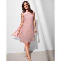 La Rodoute ANNE WEYBURN Printed Pink Draped Dress Size 14 rrp £69 RE078 AA 07