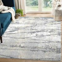 Omaha Distressed Abstract Grey Beige Modern Floor Rug - 5 Sizes **FREE DELIVERY*