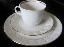 Schirnding  Bavaria Kaffee-Gedeck 3 tlg  Weiß Relief mit und Goldrand