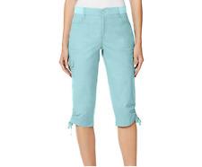 Gloria Vanderbilt Ladies Knit Waist Capri Pant Aqua Sky Size:10