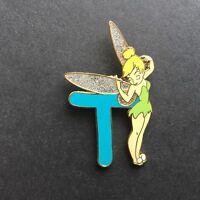 Alphabet Pin - T Glitter Tinker Bell Disney Pin 7818