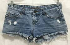 Billabong Shorts Junior 5 Blue Denim Destroyed Daisy Dukes Junior Womens 5691