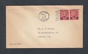CANADA 1932 3C ON 2C ARCH SURCHARGE FIRST DAY COVER OTTAWA TO TORONTO