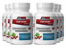 Improves Blood Flow - Hawthorn Extract 665mg - Hawthorn Berry Capsules 6B