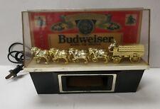 VINTAGE BUDWEISER CASH REGISTER LIGHT CLYDESDALE HORSES LIGHT BEER