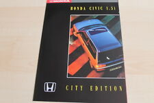 143407) Honda Civic - City Edition - Prospekt 198?