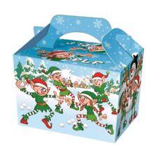 50 X Cajas De Comida Fiesta De Navidad Elfo-Comida Saquear Almuerzo Cartón Regalo Niños