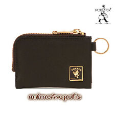 PORTER INTERNATIONAL Brown Zipper PU Type Multifunctional Wallet Moly For Cards