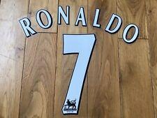 Manchester United Shirt Plastic NameSet Ronaldo 2002 2003 2004 2005 2006 White