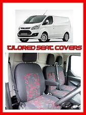 FORD Transit Custom COMPLETAMENTE SU MISURA SEAT COVERS-Grigio/Rosso
