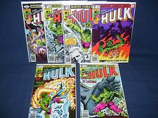 The Incredible Hulk Lot #236-#237, #239-#240, #243-#244 Marvel Comics