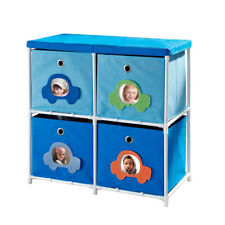Altra 4-Bin Canvas Storage Organizer Shelf Unit Cube Drawers Kids Toys Clothes