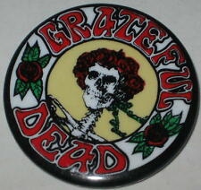 "Grateful Dead Skull & Roses Concert Pin 1.75"" Original"