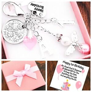 LUCKY SIXPENCE FIRST 1ST BIRTHDAY GIRL/ BOY PERSONALISED INITIAL, GIFT BOX