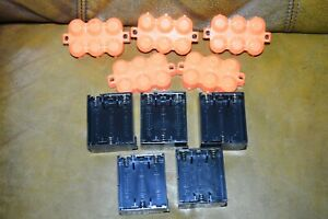 Nerf Lazer Tag Phoenix LTX Battery Holders with Covers Lot of 5